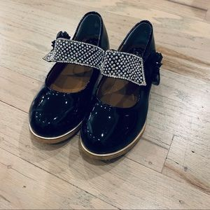Other - Girls Crystal strap black Mary Janes